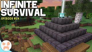 FULL NETHERITE BEACON! | Infinite Survival Episode 14