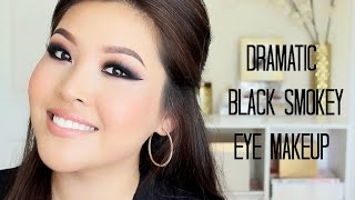 Dramatic Black Smokey Eye Makeup - Tutorial Thumbnail