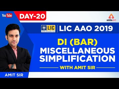 LIC AAO 2019 | DI (Bar),Miscellaneous, Simplification | Maths | Day 18 | Amit Sir