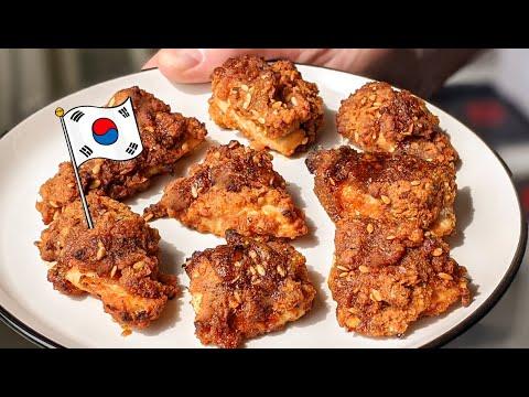 poulet-frit-au-four-à-la-coréenne-/-recette-hallucinante