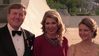Koning Willem-Alexander en koningin Máxima trakteren op concert in Luxemburg