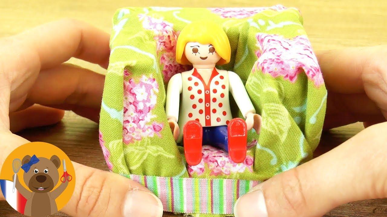 Idee Deco Salon A Faire Soi Meme fabriquer un fauteuil playmobil | idée pour un salon playmobil | fauteuil  playmobil diy
