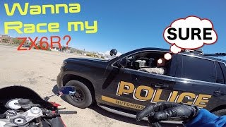 ASKING 3 COPS TO RACE! COOLEST COPS EVER!!!😀