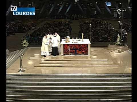 Lourdes Messe Internationale du mercredi 23 sept. 2015-International Mass (France)
