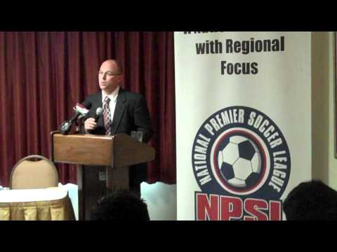 NPSL Finals press conference introduction