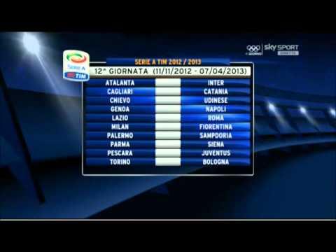 Calendario Seria A Tim.Calendario Serie A Tim 2012 2013
