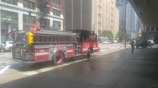 Chicago Fire Department Engine 42 & Truck 3 Returning