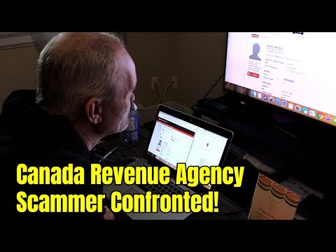 Canada Revenue Agency Scammer Confronted!