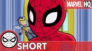 Spidey & The Wasp Ruin Rhino's Rampage! | Marvel Super Hero Adventures - Stomp and Listen | SHORT