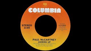 Paul McCartney ~ Coming Up (Studio Version) 1980 Disco Purrfection Version