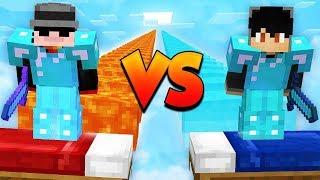 MEGA PRO VS MEGA NOOB EN BED WARS - Minecraft
