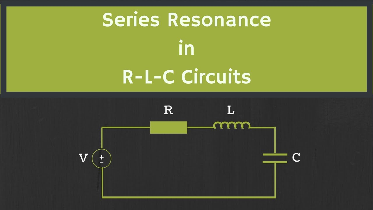 Series Resonance In Rlc Circuit Youtube The Image Shows A Simple Electrical Has