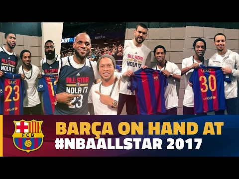 Ronaldinho, the face of FC Barcelona at the NBA All-Star game