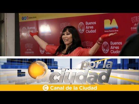 """<h3 class=""""list-group-item-title"""">Moria Casán recibió su """"Estrella de la calle Corrientes"""" - Por la ciudad</h3>"""