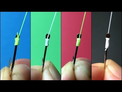 Fishing Knot/ How To Tie A Hook (4 Ways To Tie Hooks)