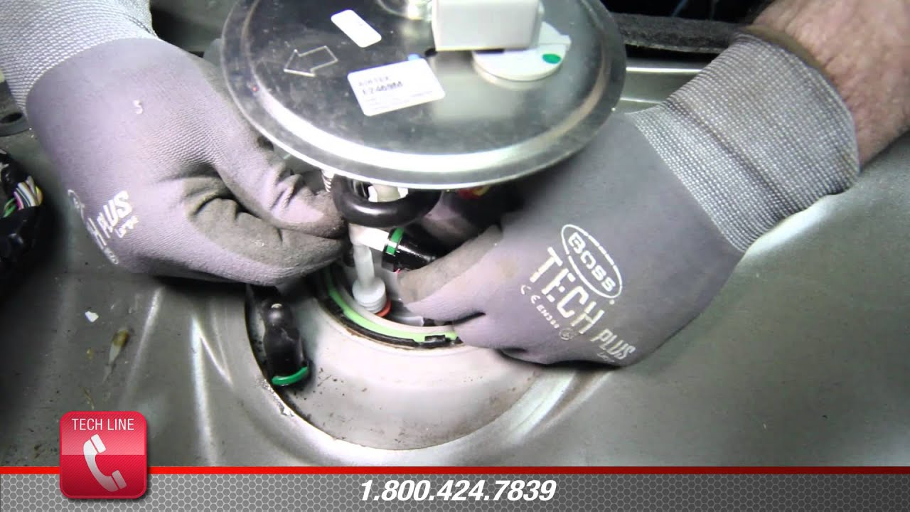 how to install fuel pump e2469m in a 2006
