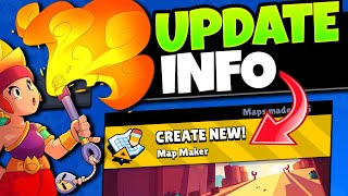 Map Maker Sneak Peek! | New Brawler Amber | Brawl Stars Update Info! #BrawlMaps