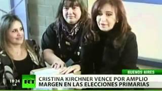 Cristina Fernández encabeza las elecciones primarias en Argentina