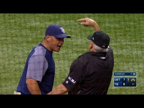 DET@TB: Cash gets ejected for arguing strike three