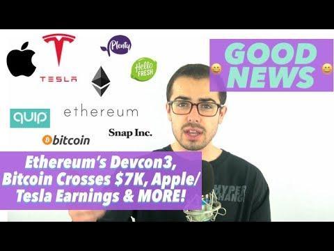 good-news-ethereum's-devcon3,-apple/tesla-earnings-&-snap's-dancing-burger