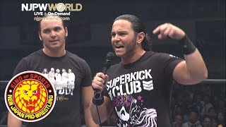 Young Bucks throw down their challenge for the IWGP Heavyweight Tag Championship!