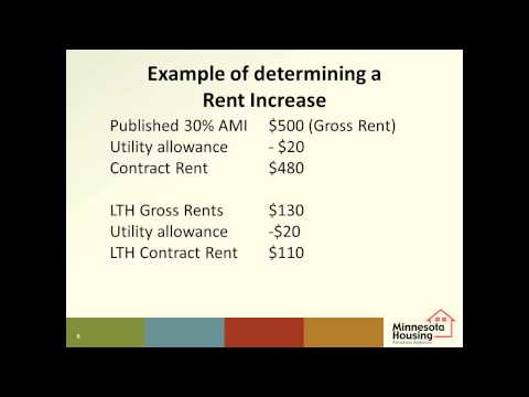 Minnesota Housing Supportive Housing Tutorial: Rent Increase Policy
