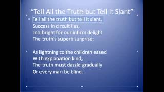 """Tell All The Truth"" by Emily Dickinson"