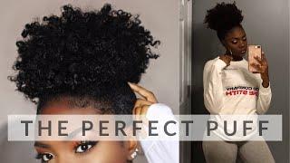 SLEEK HIGH PUFF TUTORIAL | SHORT/MEDIUM LENGTH TYPE 4 NATURAL HAIR | Courtney Lynn