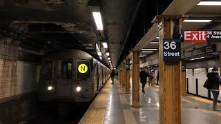 NYC Subway | R68A (N) Train @ 36th Street