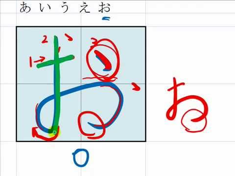 1. How to write Hiragana, a i u e o あいうえお in hand writing