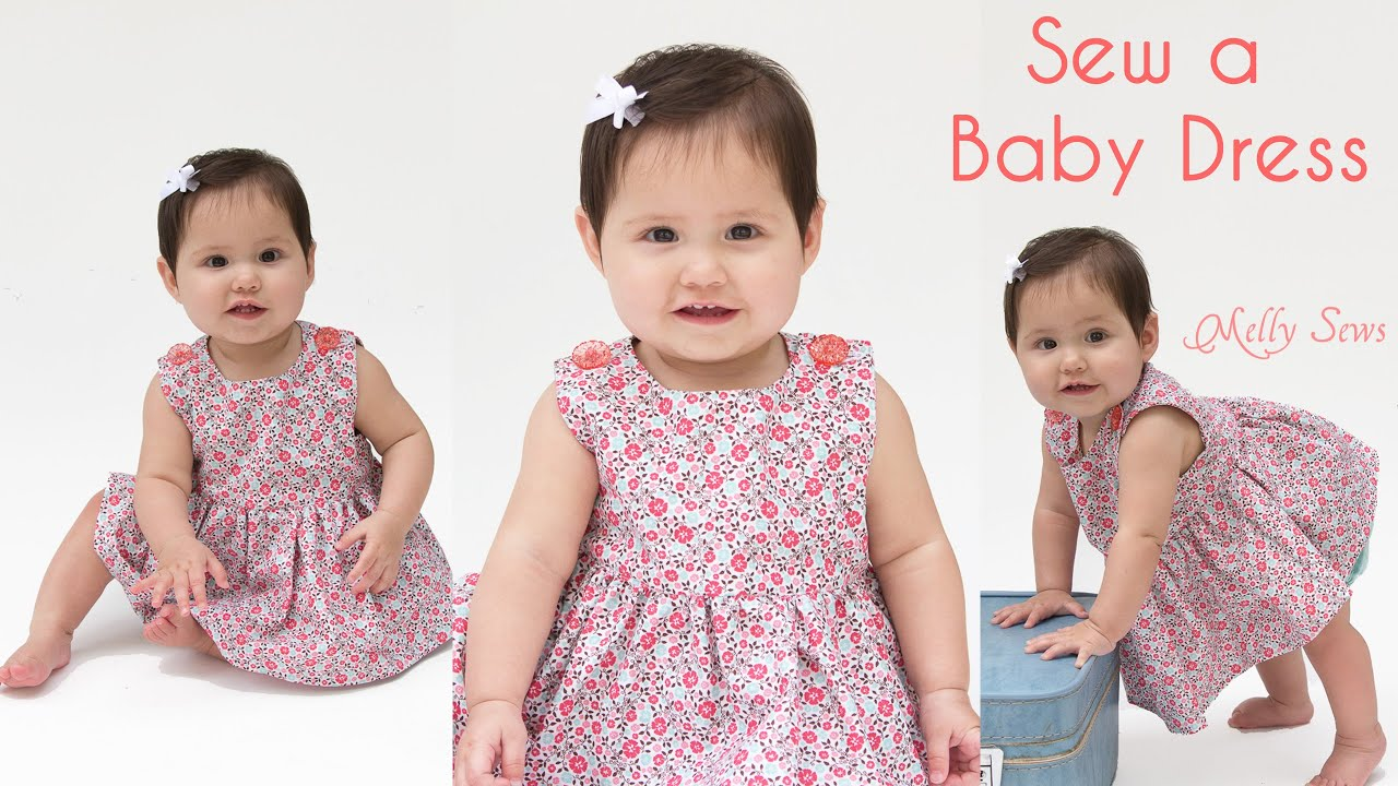 4185d000f How to Sew a Baby Dress - Free Pattern - YouTube