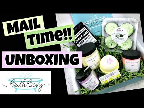 "BATH BEVY UNBOXING - ""Spa Day"" March 2018 - Bath Bomb & Body Products Monthly Subscription Box"