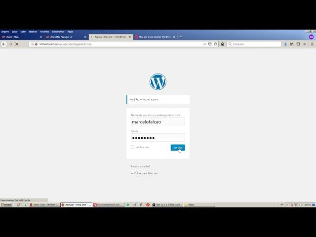 Criando um novo usuário no Wordpress