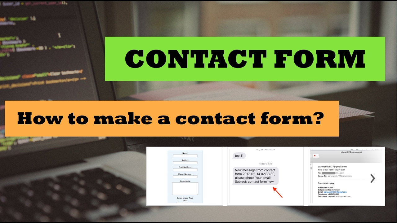 HTML Contact Form with PHP script for email and SMS alerts - YouTube