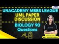NEET Toppers: Unacademy MBBS League - Paper Discussion | Biology 90 Questions | Garima Goel