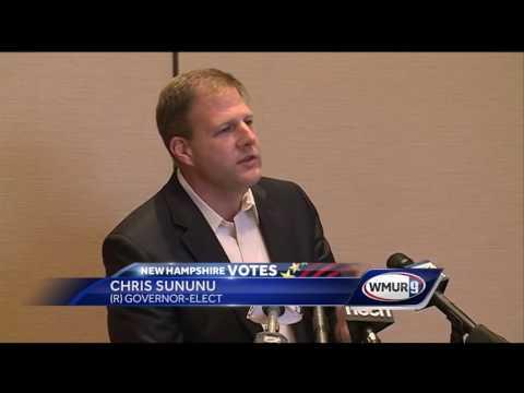 Governor-elect Chris Sununu speaks about victory