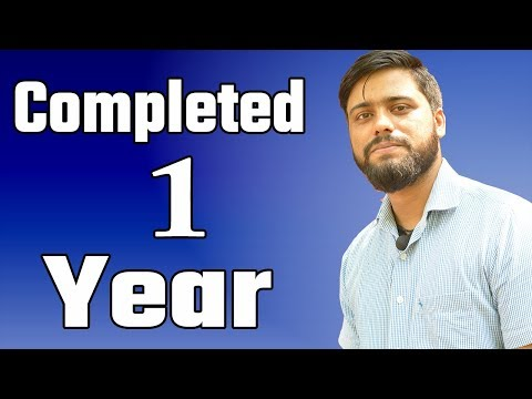 1 year completed   New Announcement   Thank You So Much