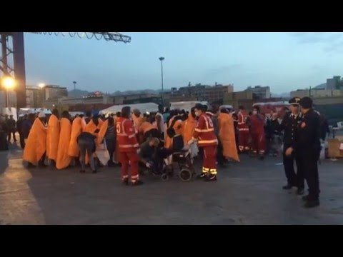 African migrants rescued off the coast of Sicily