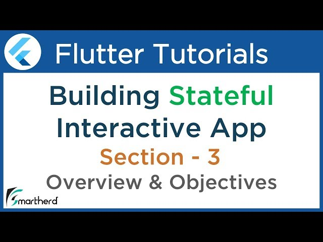 #3.1 Flutter Tutorial for Beginners with Dart: Building Complete app using Stateful Widget