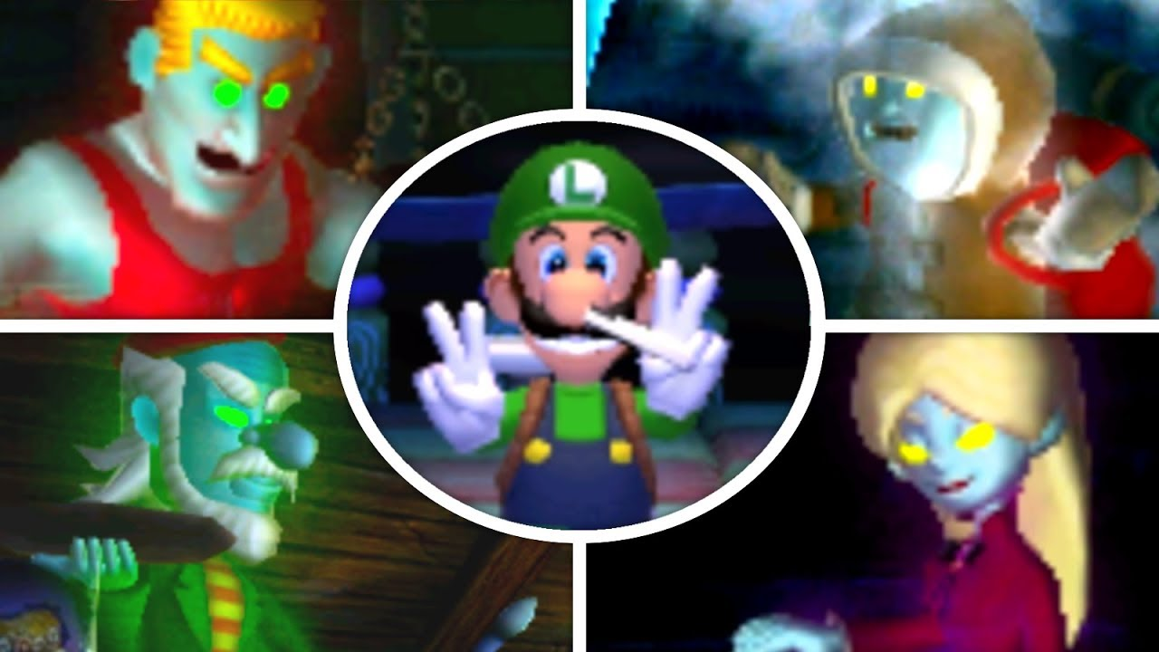 Luigi S Mansion 3ds All Portrait Ghost Bosses No Damage