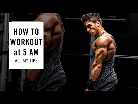GET THE BEST 5 AM WORKOUT! All my tricks