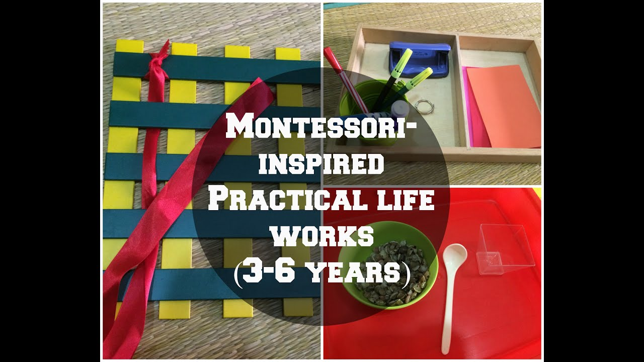 New Series Montessori Inspired Practical Life Works For 3 6 Year