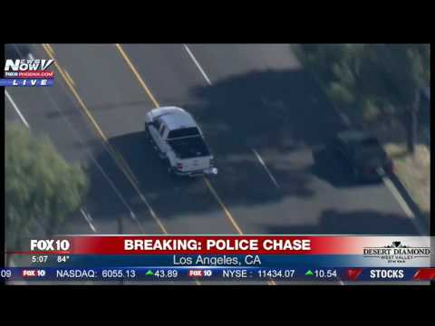 WATCH THE ENDING: Aggressive Police Chase In Los Angeles