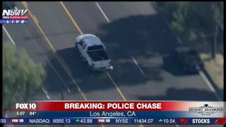 WATCH THE ENDING: Aggressive Police Chase In Los Angeles (FNN)