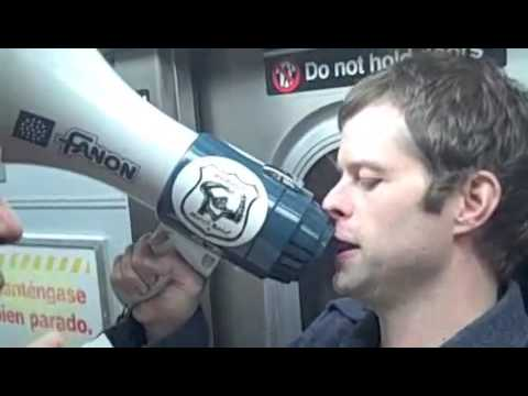 John Wray reads to commuters: Part 4