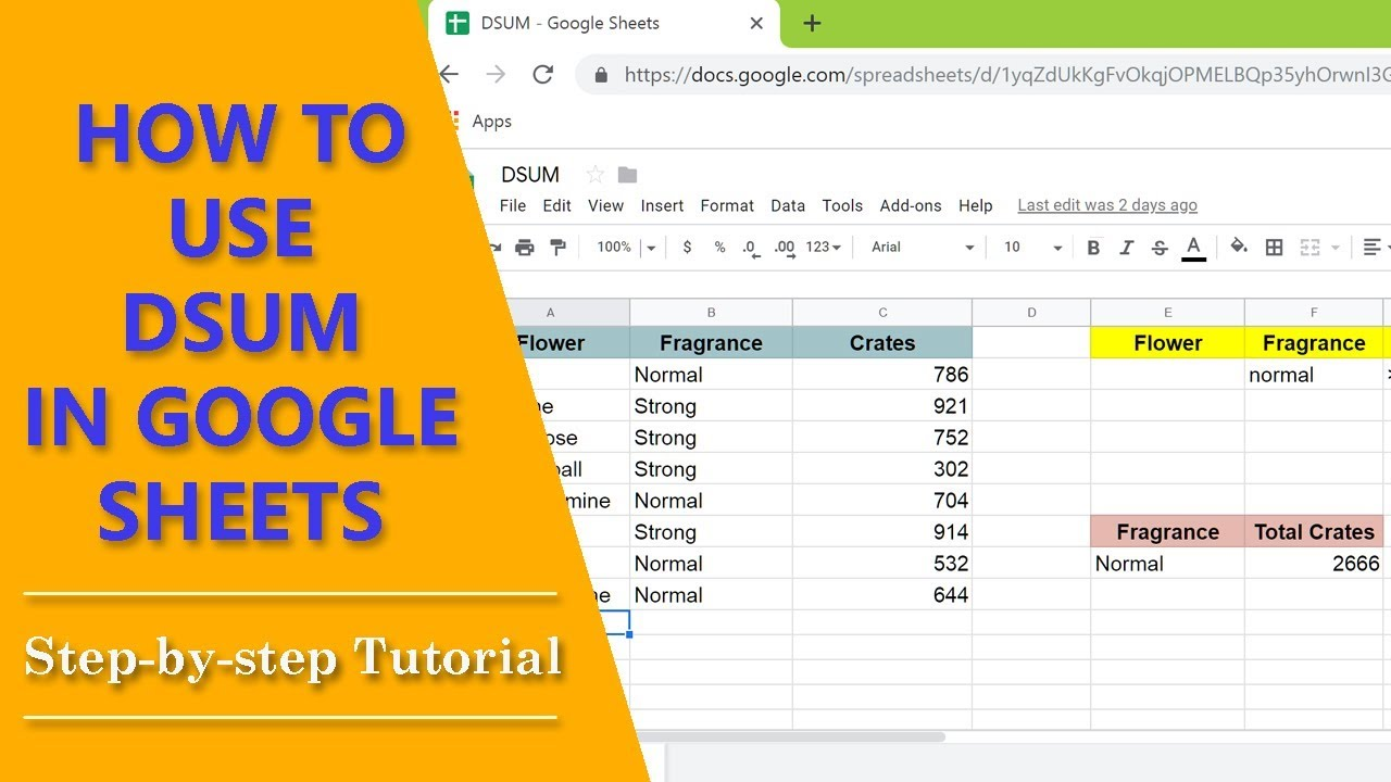How to Use DSUM in Google Sheets | Sum Based on Multiple Criteria