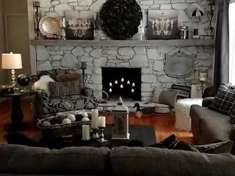 Rustic Glam Living Room Tour / Farmhouse Decor - YouTube