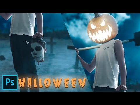 Аватарка на Хеллоуин   Обработка Фото в Photoshop   Процесс Создания