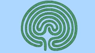 Spiritual Clearing via crete labyrinth tracing activation
