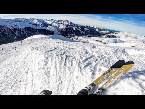 Peyragudes Pyrénées - Faction Candide 2.0 2019 Ski Test - 1er Ride Dans De La Vraie Neige !